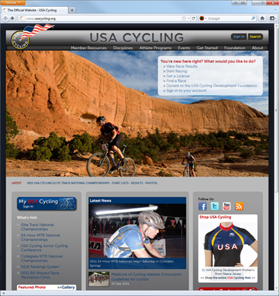 Concussion Release on USA Cycling's Website