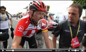 Video of Chris Horner's post-crash state in the 2011 Tour de France
