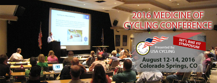 The Medicine of Cycling Conference 2014 will be in Colorado Springs on August 22 - 24, 2014
